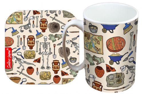 Selina-Jayne Archaeologist Limited Edition Designer Mug and Coaster Set